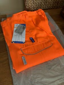 Bodyguard Railway Orange Protective Trousers With Knee pad Pocket Size 34T New