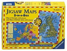 Ravensburger 2-in-a-Box Jigsaw Puzzle Maps: Europe 100 British Isles 200 Pieces