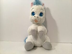 Disney Hercules Winged Horse Pegasus Plush Stuffed White Blue Adorable 12""