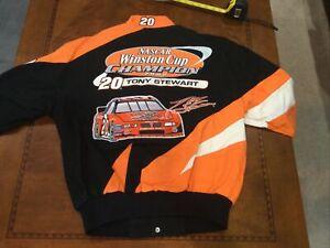 Vintage NASCAR 2002 Tony Stewart #20 Championship Jacket Jh Design NWT Small NOS