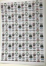 Personalizado 216 Pegatinas soldados uniforme de Star Wars Clone Trooper-Tamaño-Lego Torso