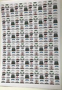 Custom 216 stickers soldiers STAR WARS CLONE TROOPER UNIFORM - SIZE - lego torso