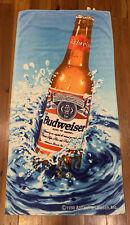 Vintage 1998 Budweiser Beach Towel Bud Splash Anheuser-Busch Inc