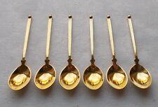 *RAR* Set von 6 Mokkalöffel aus 925er Sterlingsilber mit Vergoldung