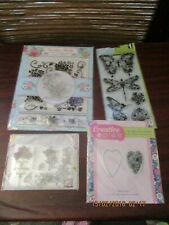 Card Paper Craft Card Making Silicone Ink Stamps - Garden Party + Hearts