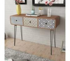 Retro Side Cabinet Console Table With 3 Drawers Brown Unique Furniture