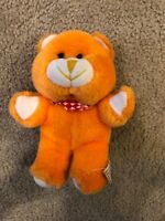 Vintage VTG Acme Teddy Bear Yellow Stuffed Plush Plushie Animal