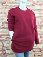 New! ZENANA OUTFITTERS plus size cabernet tunic length sweatshirt crew pockets