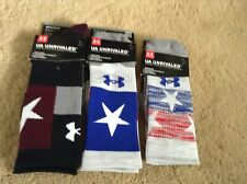 Under Armour Unrivaled Performance Crew Socks Mens Assted Colors and Stars