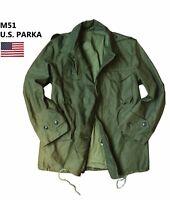 Genuine Vintage U.S Army M51 Military Parka Jacket – Green – Small/Medium/Large