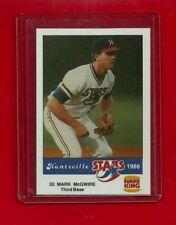 RARE 1986 BURGER KING Mark MCGWIRE HUNTSVILLE STARS GORGEOUS MINT ? PSA ?
