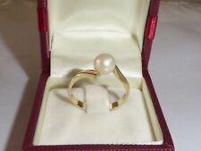 Ring 585 Gold Gelbgold Perle Zuchtperle Verlobungsring RG 62 - 19,7 mm 1863