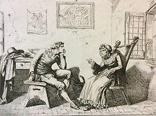 Bartolomeo PINELLI (1781-1835) d'après Giuseppe Berneri estampe Italie XIXe a
