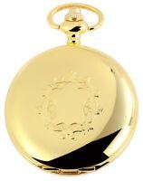 Taschenuhr Weiß Gold Klassik Wappen Analog Quarz Metall D-180802000046350