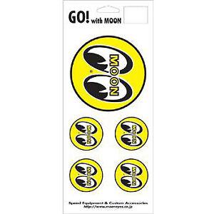Mooneyes round logo 5 piece decal sheet hot rod gasser rockabilly 1932 chev