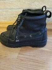 Justins Work Safety motorcycle Hiking Boots Womens Size 5.5 M black leather
