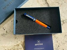 MOLTENI PEN MODELO 57 RHODIUM TRIM FOUNTAIN PEN