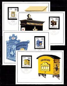 DDR, MK,  DDR Amtl. Maximumkarten 1985, 1-4, Mic. 2924 - 2927. Hist. Briefkasten