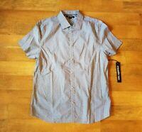 KARL LAGERFELD men's large black white short sleeve shirt $119
