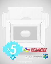 LOT DE 5 CALES INSERTS NEUFS POUR BOITES SUPER NINTENDO SNES N64
