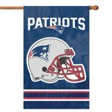 NEW ENGLAND PATRIOTS House Banner Flag PREMIUM Outdoor DOUBLE SIDED Embroidered