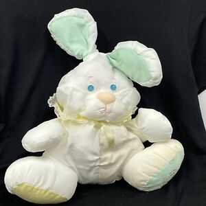 Fisher Price Puffalump Rabbit Bunny with rattle Has flaws See description