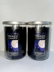 ☆☆MIDSUMMER'S NIGHT☆☆SET OF 2 LARGE YANKEE CANDLE 2 WICK TUMBLERS☆☆FREE SHIPPING