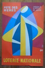 Affiche originale Loterie Nationale  - FETE DES MERES - Foré