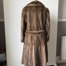 Mink Coat Caramel Colour Size 12 Vintage Winter Fur Skiing Luxury