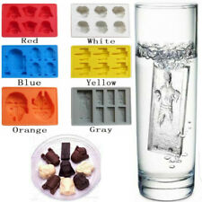 6-Color Star Wars Ice Cube Tray Chocolates Cake Minifigure Molds Silicone Mould