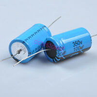 1pc Axial Leaded Electrolytic Capacitor 350V 100uf For Guitar Tube Audio Amp New