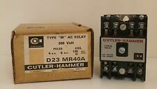 "CUTLER HAMMER TYPE ""M"" AC RELAY 300V/4POLES  D23MR40A *NIB*"