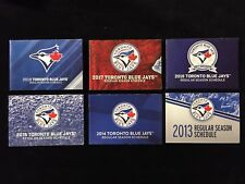 6 x Different TORONTO BLUE JAYS MLB POCKET SCHEDULES 2013-2018