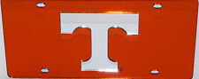 TENNESSEE VOLUNTEERS ORANGE INLAID MIRRORED ACRYLIC AUTO LICENSE PLATE