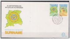 Surinam / Suriname 1983 FDC 72 Map landkarte carte de Surinam