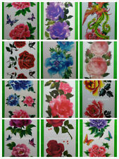 Wholesale 15 Sheets Water Transfer Temporary Tattoo Flower D