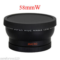 58MM 0.45x Wide Angle Macro Lens for Canon EOS 500D Rebel T5i T4i T3i T2i T1i