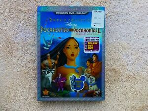 Pocahontas and Pocahontas II - Blu Ray / DVD - 3 Disc Special Edition - NEW