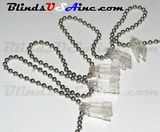 *¿* (24 clips) Vertical Blind CHAIN & CLIP for Fabric Vanes, clear plastic clips