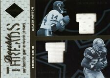 2003 LEAF LIMITED DOUBLE THREADS JERSEY WALTER PAYTON & EMMITT SMITH #D /100 HOF