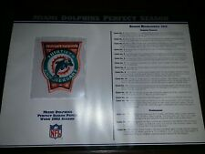 NFL Football Replica PATCH Collection: MIAMI DOLPHINS PERFECT SEASON (1972)