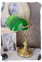 BANKERS LAMP KLASSISCHE TISCHLEUCHTE LESELAMPE BANKERLAMPE Tischlampe Büro neu