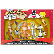 Looney Tunes Bendable figures box set Bugs, Elmer, Sylvester, Tweety, Wile E.