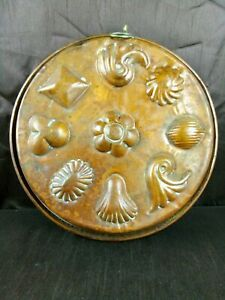 Vintage French Solid Copper Round Jelly Chocolate Mould