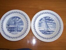 "WOOD & SONS  PLATES ""Village Greens   Litchfield Conn.-Constellation N. Port RI"""