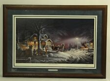 Terry Redlin ''Winter Wonderland'' Framed Oak Signed Numbered 7531/29500 W/ COA