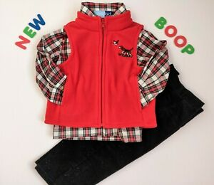 Toddler Kids Baby Boys Clothes Size 24M NWT Good Lad Red Dog Fleece Pants