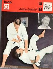 Scheda Rizzoli 1977=JUDO=ANTON GEESINK=CM 16X12