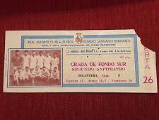 ENTRADA TICKET FINAL INTERCONTINENTAL REAL MADRID PEÑAROL 1960