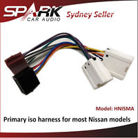 Primary ISO Harness Non SWC Adaptor For Nissan X-Trail Xtrail 2001-2007 HNISMA
